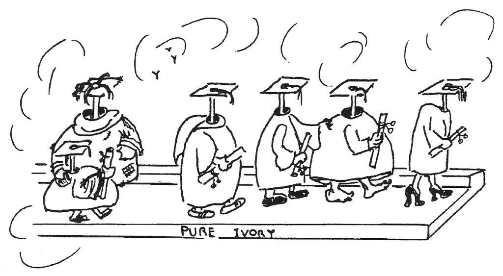 Graduates - drawing by Bonnie Prudden