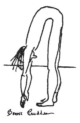 Back Flexibility Test drawing by Bonnie Prudden