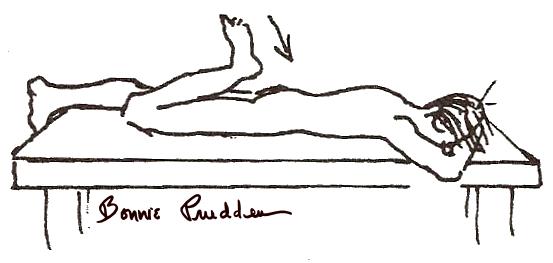 Quadriceps Flexibility drawing by Bonnie Prudden