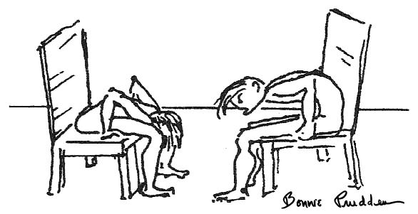 Upper Back Flexibility Test drawing by Bonnie Prudden